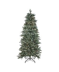 Pre-Lit Slim Washington Fraser Fir Artificial Christmas Tree