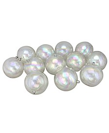 12 Count Clear Iridescent Shatterproof Shiny Christmas Ball Ornaments