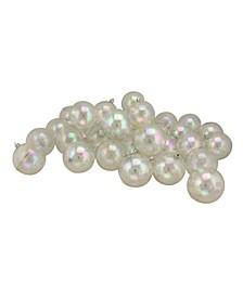 Clear Iridescent Shatterproof Shiny Christmas Ball Ornaments