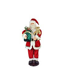 Deluxe Traditional Animated and Musical Dancing Santa Claus Christmas Figure