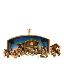 Religious Christmas Nativity Village Set with Holy Family