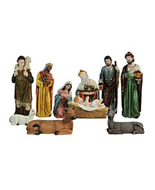 Religious Christmas Nativity Figurine Set