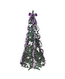 Pre-Lit Slim Pop-Up Artificial Christmas Tree