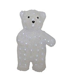 Lighted Commercial Grade Acrylic Polar Bear Christmas Display Decoration