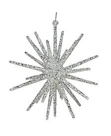 Glitter Starburst Christmas Ornament