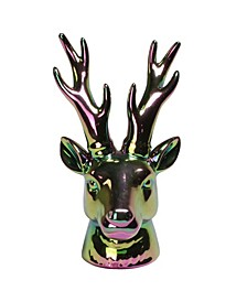 Rainbow Electroplated Deer Head Christmas Decoration