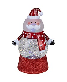 Santa Claus LED Lighted Swirling Glitter Water Globe Christmas Table top Decoration