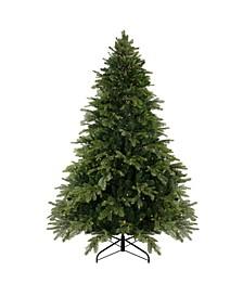 Woodcrest Pine Artificial Christmas Tree-Warm LED Lights