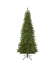 Pre-Lit Pencil Canadian Pine Artificial Christmas Tree-Clear Lights