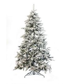 6.5' Alpine Spruce Snow Flocked Christmas Tree