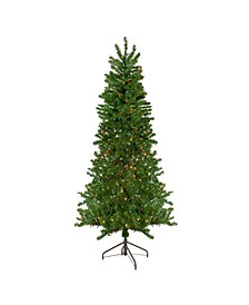 Pre-Lit Medium Canadian Pine Artificial Christmas Wall Tree-Multicolour Lights