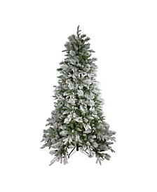 Unlit Full Flocked Colorado Pine Artificial Christmas Tree