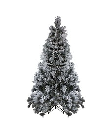 Unlit Flocked Black Spruce Artificial Christmas Tree