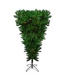 Pre-Lit Full Sugar Pine Upside Down Artificial Christmas Tree