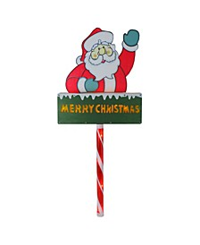 Lighted Santa Claus Merry Christmas Lawn Stake