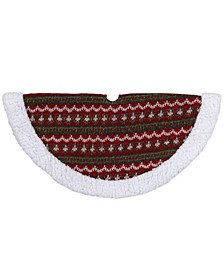 Lodge Knitted Mini Christmas Tree Skirt with Sherpa Trim