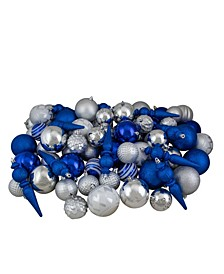 75 Count and Shatterproof 3-Finish Christmas Ball Ornaments