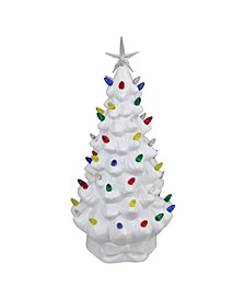 LED Lighted Retro Table Top Christmas Tree with Star Topper