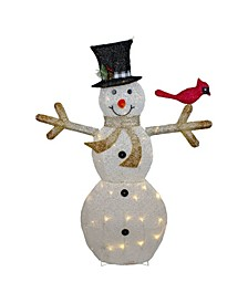 LED Lighted Snowman with Top Hat Christmas Outdoor Decoration
