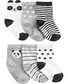 Baby Boy or Girl 6-Pack Panda Booties