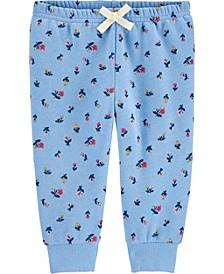 Baby Girl Floral Fleece Pants