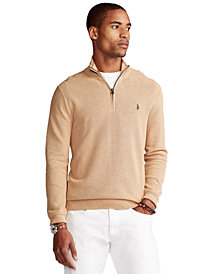 Polo Ralph Lauren Men's Cotton Quarter-Zip Sweater