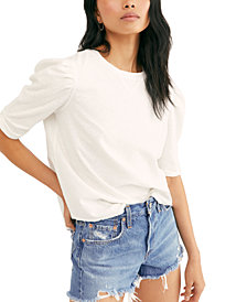 Free People Just a Puff Textured Top