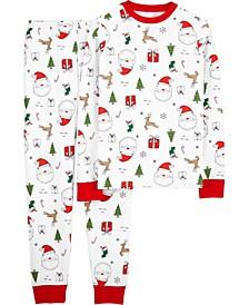 Adult Unisex 2-Piece Christmas Snug Fit Cotton PJs