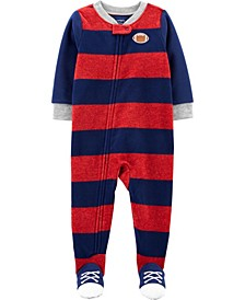 Toddler Boy 1-Piece Football Fleece Footie PJs