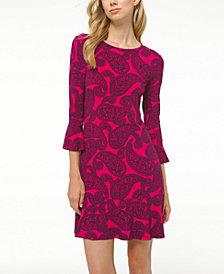 Michael Michael Kors Plus Size Printed Flounce Dress