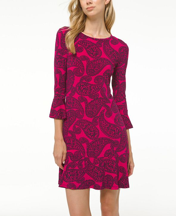 Michael Kors Plus Size Printed Flounce Dress