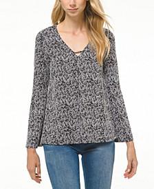Marled Embellished Sweater