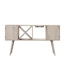 Rhodes Mid Century Modern Wood Sideboard with Doors