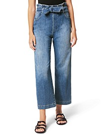 Paperbag Wide-Leg Jeans