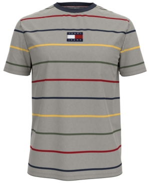 Tommy Hilfiger Men's Tommy Jeans Bradley Stripe Logo Graphic T-Shirt