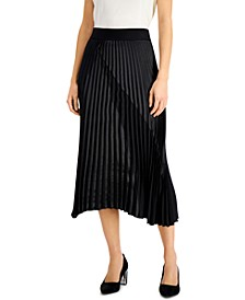 Mixed-Media Pleated Skirt, Created for Macy's