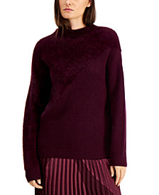 Alfani Eyelash Knit Ribbed Sweater, Created for Macy's