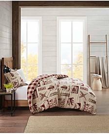 Flannel Twin Comforter Cabin Mini Set