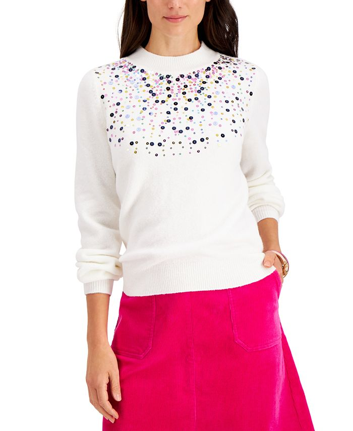 Charter Club - Sequined Sweater, Created for Macy's