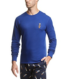 Men's Polo Bear Waffle-Knit Pajama Shirt