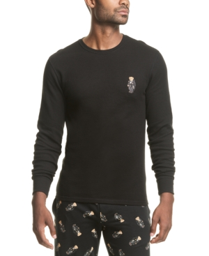 Polo Ralph Lauren Men's Bear Waffle-Knit Sleep Shirt