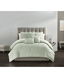 Meredith 6 Piece Queen Comforter Set
