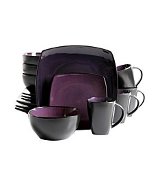 Soho Lounge 16 Piece Soft Square Stoneware Dinnerware Set
