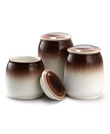 3 Piece Ceramic Kitchen Canister Collection