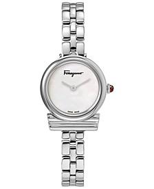 Women's Swiss Gancini Stainless Steel Bracelet Watch 22mm