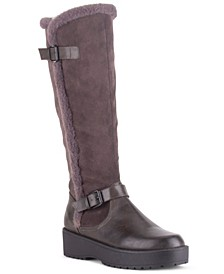 Women's Stone Platform Riding Boots