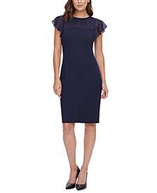 HARPER ROSE Flutter-Sleeve Sheath Dress