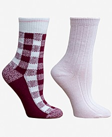 Women's Buffalo Check 2pk Boot Socks