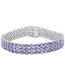 EFFY® Tanzanite Triple Row Bracelet (17-5/8 ct.t.w.) in Sterling Silver