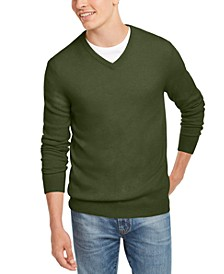 Men's V-Neck Cashmere Sweater, Created for Macy's